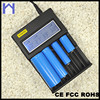 3.7V 8 aa battery charger for LCD universal recharge Li-ion Lithium 18650 26650 16340 14500 battery