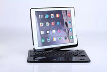 360 Degree Rotatable Wireless Bluetooth 3.0 Keyboard for iPad Air Detachable Bluetooth Keyboard Case For iPad air 2