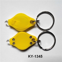 China supplier custom logo rhombus promotive gift ABS led keychain light with good quality