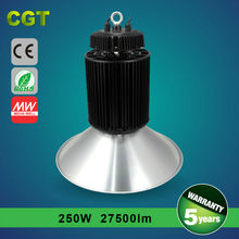 LED day brite lighting high bay lighting price 250w Meanwell driver CE Rohs TUV SAA certificated