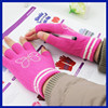 Hot new products for 2015 women fashion custom knitted acrylic fingerless gloves