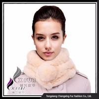 CX-S-15D 2015 Bright Color Rabbit Fur Ball Neck Warmer Scarves