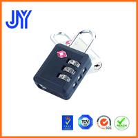 2015 new satety luggage bag case 3 digit TSA007 padlock factory price
