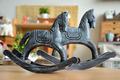 zakka de víveres para el hogar artículos de decoración retro del caballo de troya de la decoración del hogar