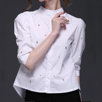 d81607f 2015 fashion office wear blouse shirt ladies white blouses for women