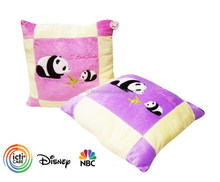 Plush super soft square panda cushion