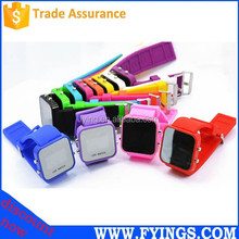 silicone fashion wrist mirror face LED chinese watch