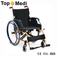 Rehabilitation Therapy Supplies factory directly sale aluminum manual ultra lightweight wheelchairs