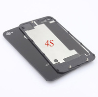 sale Sale Black GSM For iPhone 4 4G /4S Compatible Back Cover Door Rear Panel Plate Glass Housing Replacement Free in stock