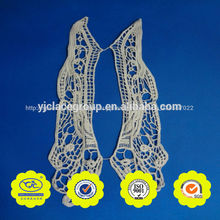 apliques bordados de flores de diseño del collar del cuello de encaje