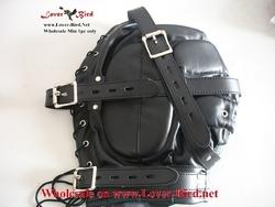 leather hood mask latex hood with mask face mask hood