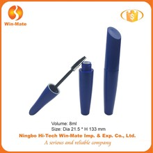 2015 new style best-selling factory supply 133*21.5mm blue mascara tube