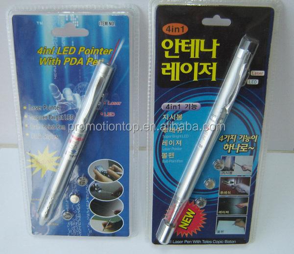 4 in 1 led red laser pen