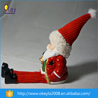 Ceramic LED Christmas Lights Decoration Plush Snowman for sales