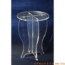 2015Custom white acrylic desk,cheap acrylic desk,acrylic writing desk small round table