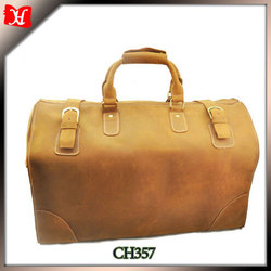 latest model travel bag mens leather duffle bag luggage
