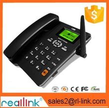 nuevos productos 2014 gsm teléfono de escritorio inalámbrico teléfono / teléfono fijo fijo con la tarjeta sim entrega rápida