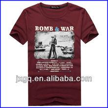 2015 latest style china manufacturer 100 cotton wholesale men's custom t shirt design