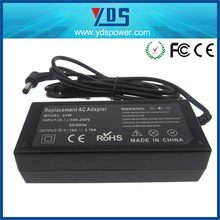 power adapter input 100 240v ac 50/60hz for laptop adaptor 19v 3.16a 60w laptop power supply