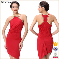 Red wedding dresses for sale Lycra evening dresses Women party dresses