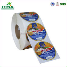 round stickers in roll made in china