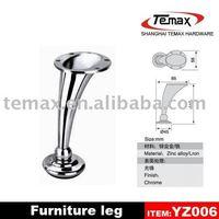 Metal furniture curved legs