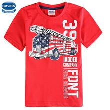 (c6329) สีแดง2- 6yearsnovaแบรนด์ขายส่งเด็กสวมใส่สบายในช่วงฤดูร้อนเด็กเสื้อยืดสวมใส่ผ้าฝ้าย100%ราคาถูก