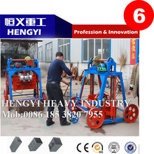 Easy operation/ no need pallets/ semi-auto/ HYQT4-45 Mobile light weight block making machine