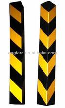 Reflective rubber channel corner protector