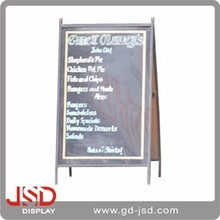 Oem Factory Customize Chalkboard Free Standing And Folding Sliding Chalk Board For Chef Menu