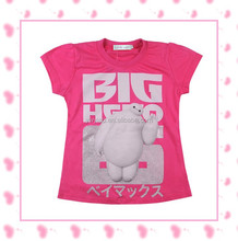 Europe and America Big Hero 6 Baymax New Design Big Hero 6 T-shirt for girls