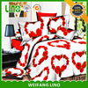 whole seller 3d print bed clothing new design with duvet cover bed sheet pillow case