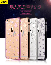 VOUNI star design Set auger bling bling crystal slim case for iphone 6