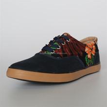 Summer last design men comfortable flower print canvas casual mens shoes casual shoes for men
