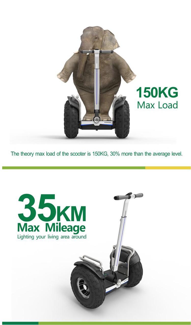 2016 новый продукт дизайн off road два колеса самокат гольфа