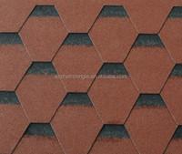 2015 Hot Sale Shadow Color Beautiful Hexagonal Asphalt Roofing Shingles Manufacturer