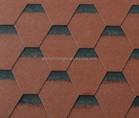 Shadow Red Hexagonal Asphalt Roofing Shingles Manufacturer