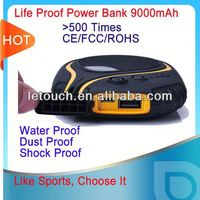 water proof dust proof shock proof power bank for samsung galaxy s3 i9300
