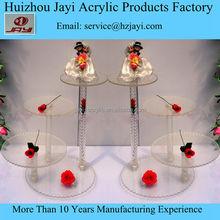 Custom acrylic tiered cake stand/display wedding cake/acrylic cupcake stand