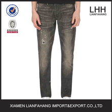 Grey street boy high quality fashion ripped jeans for men