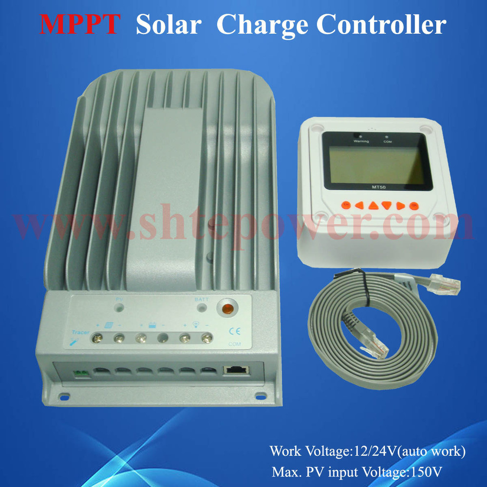 Tracer 3210bn 12v 24v Auto Work Voltage Mppt Solar Charger Boost Converter With Charge Controller Diy B 30 40a1