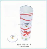 High quality custom round wine tin box