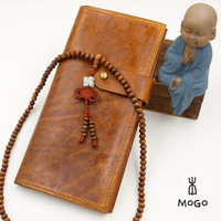 handmade top layer leather wallet for chirstmas gift