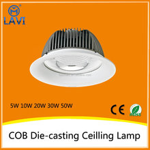 8inch adjustable or gimbal led down light 50w,50w round led downlight for shop light