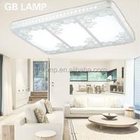 Modern rectangle LED ceiling lamp incandescent luminaire