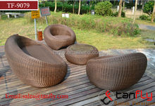 Water proof round wicker rattan sofas outdoor furniture