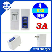 New arrival multi funcation dual usb wall charger 3.1a for samsung