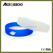 New Brand Rubber Silicone Wristband Debossed with Ink Wristband