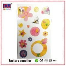 Decorative Epoxy Resin Stickers Customized Design 3D Epoxy Sticker For Kids