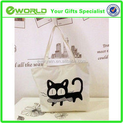 Art packing custom logo bag canvas tote bag